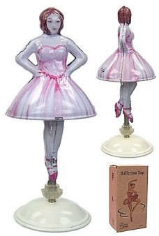 Nutcracker Ballerina Tin Toy Top