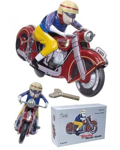 Colorful Spin Out Motorcycle Tin Racer