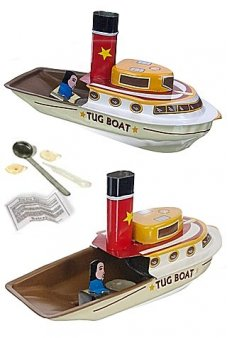 Odyssey Tug Boat Pop Pop Tin Steam