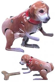 Hopping Puppy Tommy Tin Toy