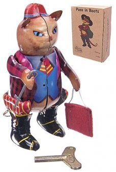Puss in Boots Walking Cat Tin Toy