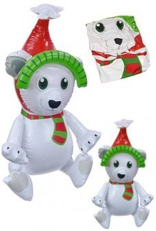 Polar Bear Christmas Inflatable 23 inch