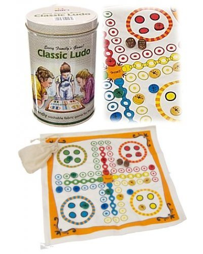 Ludo Classic Game Fabric in Tin