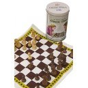 Classic Chess Set Fabric Game in Tin