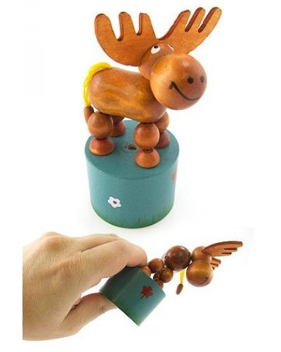 Morris the Moose Wood Thumb Puppet