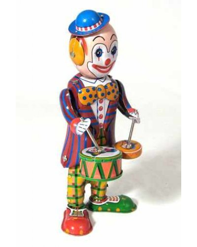 Tin Toy Drumming Clown