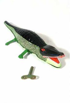 Crocodile Wind Up Tin Toy Alligator