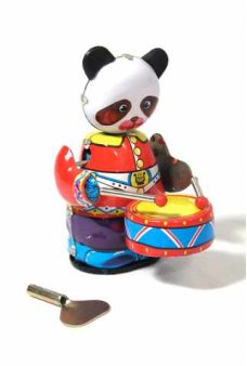 Drumming Panda Tin Toy Windup