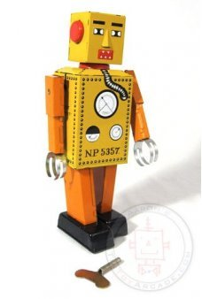 Lilliput Robot Large Tin Toy Windup