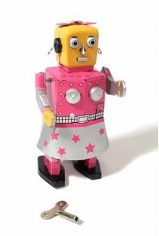 Venus Robot Girl Windup Tin Toy