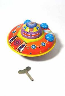 Flying Saucer Windup Tin Toy