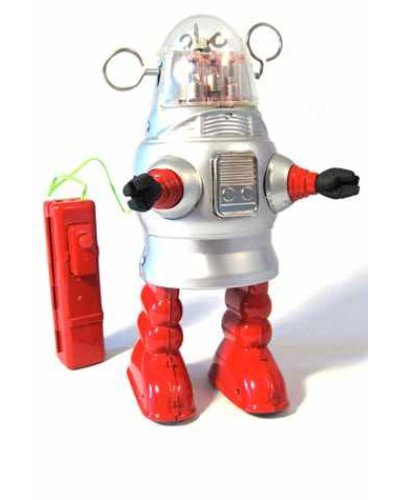 Robby Piston Action Robot Silver