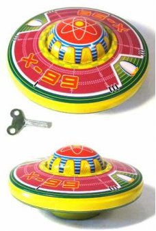 Neptune Flying Saucer Classic Tin Toy
