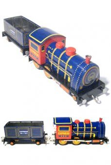 Express Steam Locomotive WIndup Tin Toy