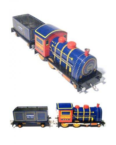 Express Steam Locomotive WIndup Tin Toy