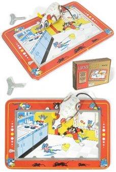 Lucky Mouse Tin Set 1940 Tom & Jerry