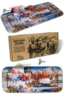 Military Patrol Playset Classic Tin 1950