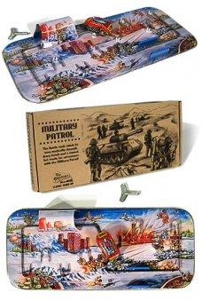 Military Patrol Playset Classic Tin 1950