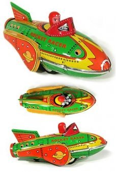 Rocket Racer Sci Fi Tin Toy Classic
