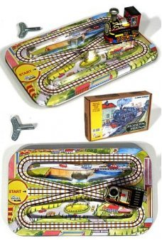 Modern Train Classic Tin Toy Set 1940