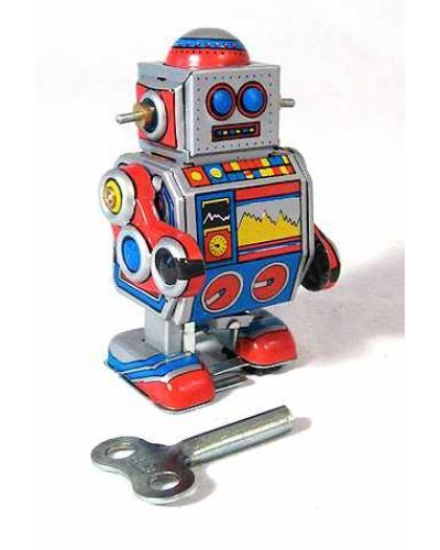 Mini D Robot Classic Tiny Tin Toy