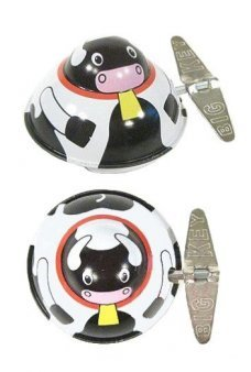 Moo Moo Cow Wacky Windup Tin Toy