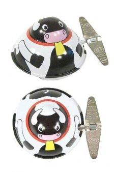 Moo Moo Cow Wacky Windup Tin Toy