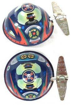 Raider X UFO Wacky Windup Tin Toy
