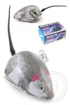 Mouse Gray Wind Up Key Tin Toy