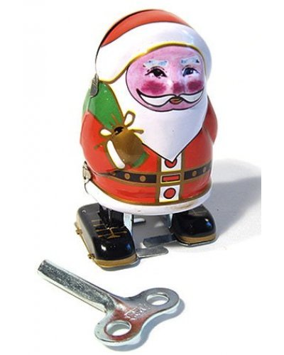 Rosy Cheeks Santa Wind Up Tin Toy