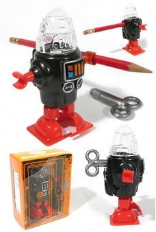 Walking Robby Robot Sharpener Wind-Up