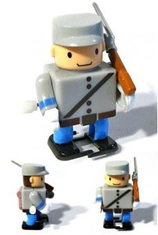 Captain Dixon Civil War Marching Soldier