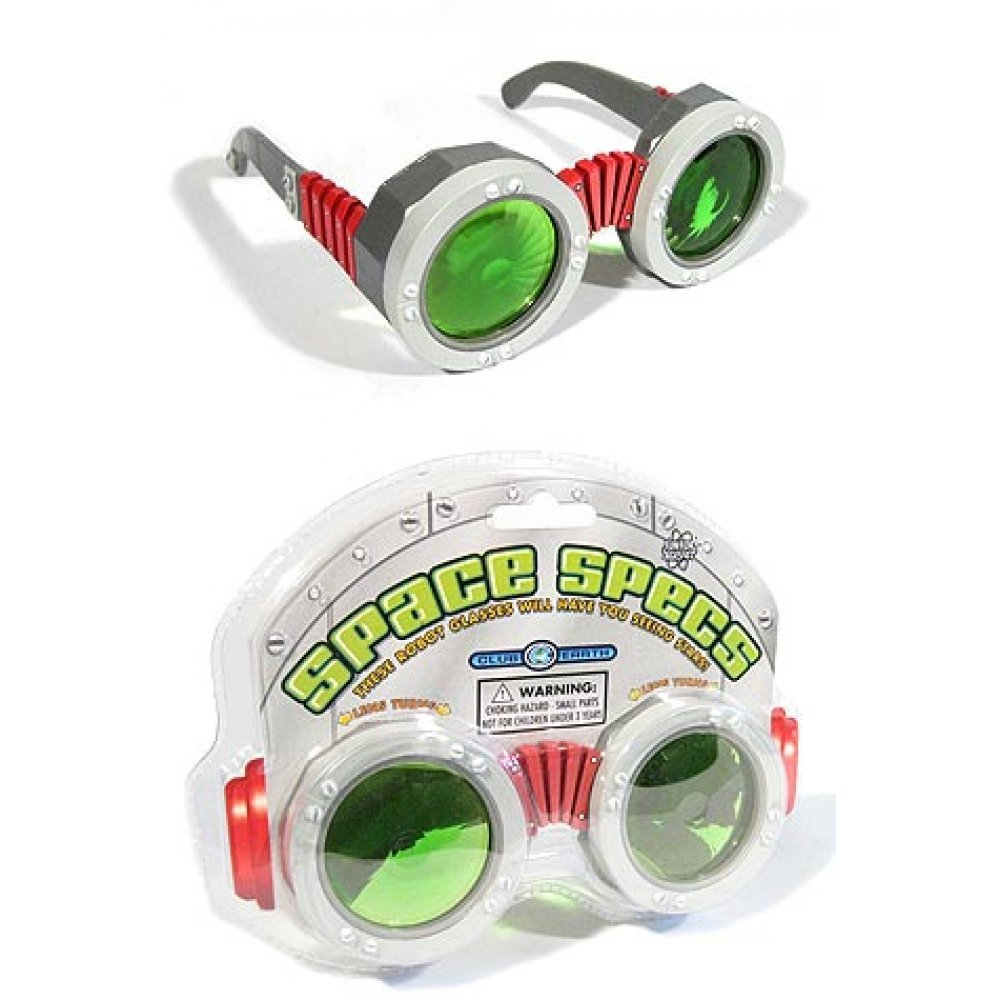 Gallery Rayguns And Robots Will Zap Your Eyes With Retro: Robot Glasses Space Specs : Green Prism Vision