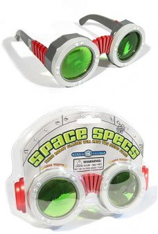 Robot Glasses Space Specs Green