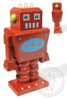 Red Wooden Robot Gang of Four