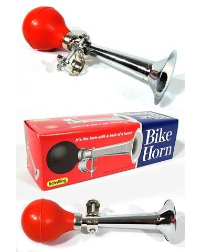 Bike Horn Red and Chrome