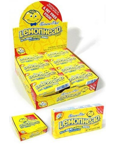 Lemonheads Candy Retro Store Box