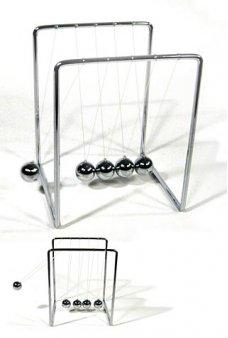 Silver Newton's Cradle Balls Swing Desktop