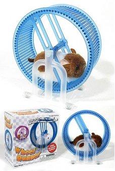 Pet Hamster Wheel Runner Blue