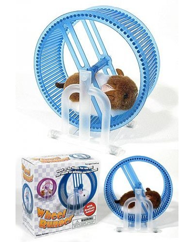 Pet Hamster Wheel Runner Blue