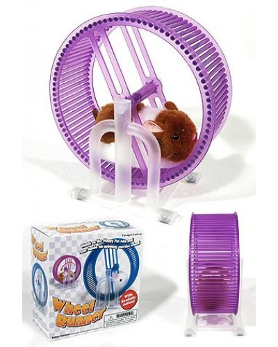 Pet Hamster Wheel Runner Purple