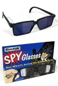 Rearview Spy Glasses Black Retro Style