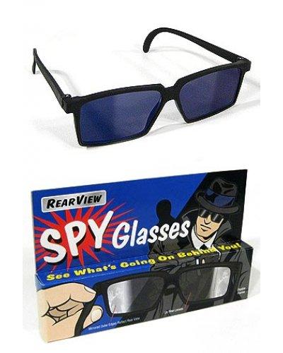 Rearview Spy Glasses Black Retro Style