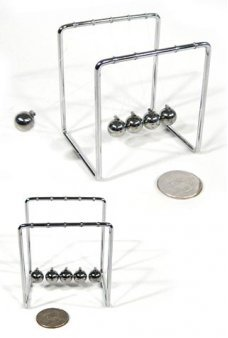 Mini Newtons Cradle Chrome Toy