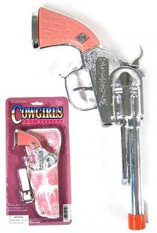 Cowgirl Pink and Silver Cap Gun