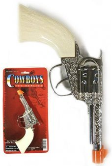 Cowboy White Handle Paper Roll Cap Gun