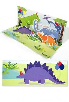 Dinosaur Birthday Party 3D Action Card