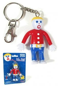 Mr Bill Flexible Keychain Oh No NJ Croce