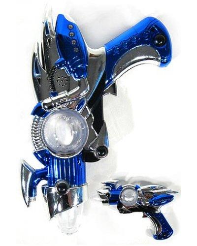 Blue Space Gun Atomic Alien Spinning