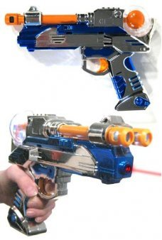 Double Barrel Space Laser Ray Gun